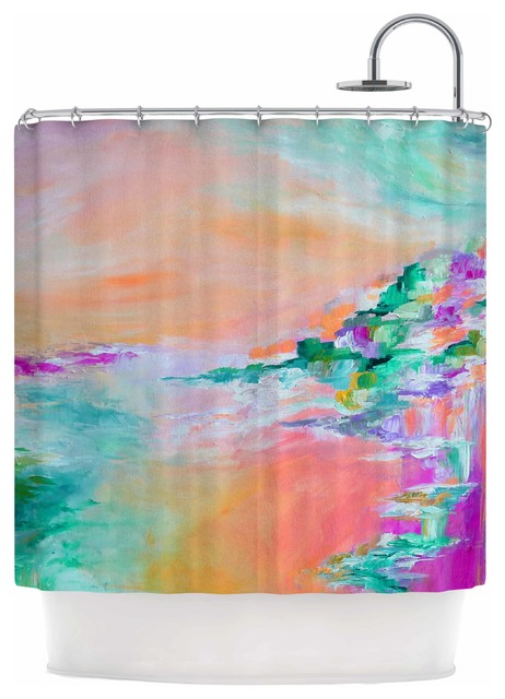 Ebi Emporium Something About The Sea 4 Teal Orange Shower Curtain