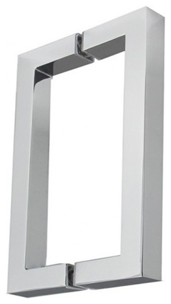 Square Shower Door Pull Pair - Modern - Cabinet And Drawer ...