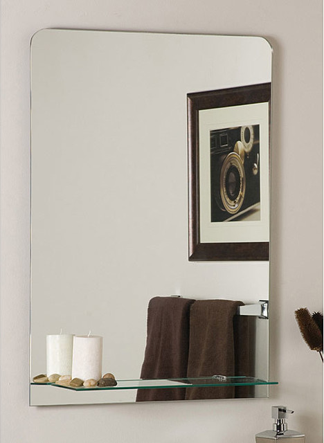 Columbus Frameless Wall Mirror - Contemporary - Wall Mirrors - by Overstock.com