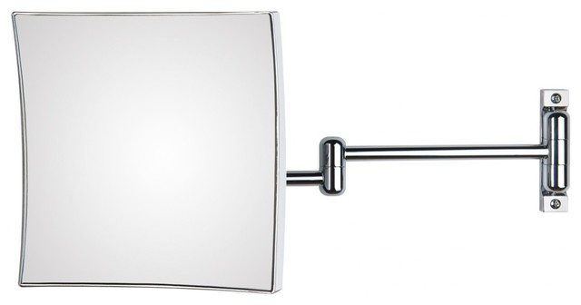 Wall Mounted Extendable Arm Curved Rectangular 3x