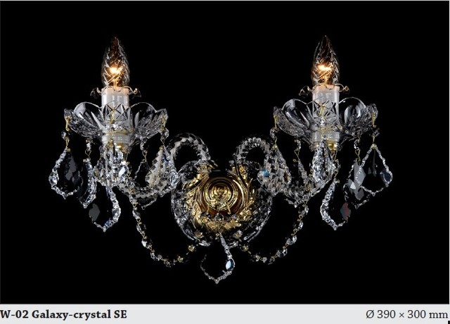 Bohemian Crystal Wall Lights : Bohemian crystal double wall sconce gold - Modern - Chandeliers - hobart - by Murano Art Glass ...