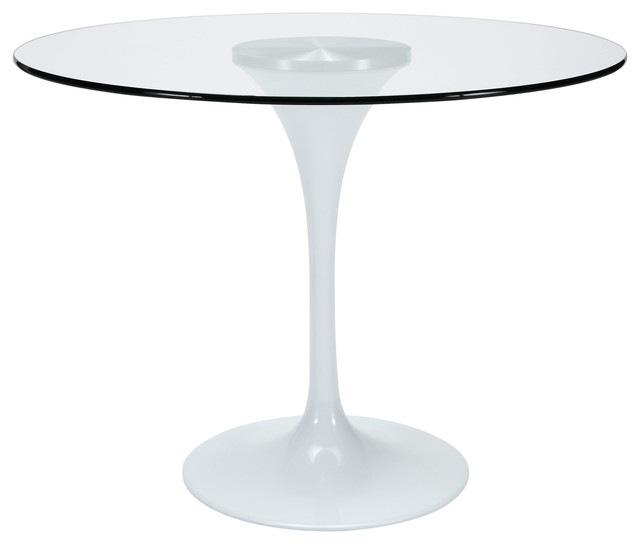 "Houzz Dining Table: 40"" Glass Top Dining Table"