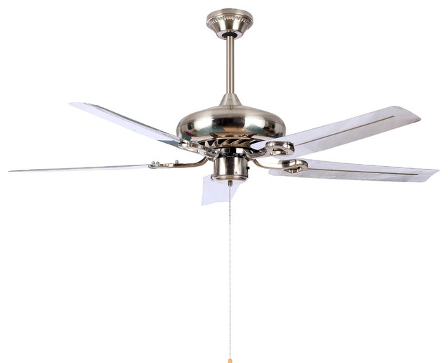 Modern white blade ceiling fan light 50 for living room Modern white ceiling fan