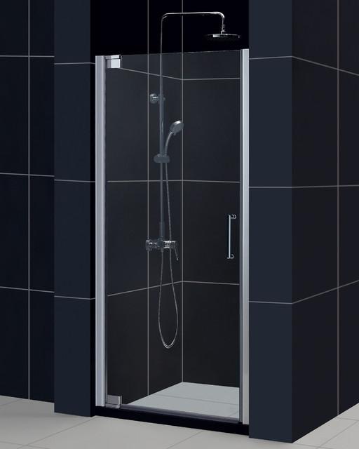 dreamline elegance pivot shower door and 32x32 inch shower base contemporary shower. Black Bedroom Furniture Sets. Home Design Ideas