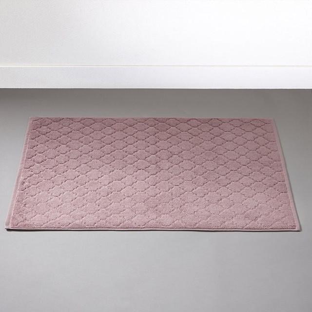 Tapis de bain 700g m aljustrel modern badematten - Tapis salle de bain rose ...