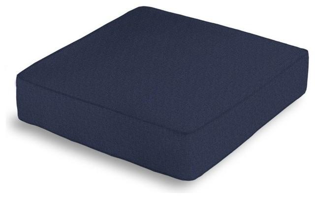 Floor Box Pillows : Linen Box Floor Pillow, Navy Blue With Navy Blue Trim - Contemporary - Decorative Pillows - by ...
