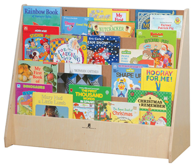 Steffywood Kids Playroom Big Book Storage Cabinet Display ...