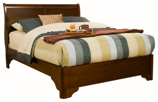 Bed california king traditional sleigh beds by alpine furniture