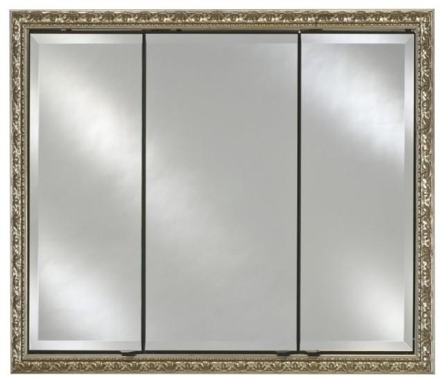 Afina Signature Collection Triple Door 44W x 30H in. Recessed Medicine Cabinet M - Modern ...