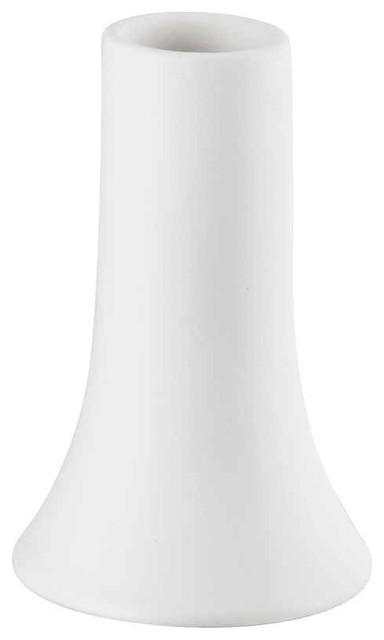 5 7 in Vase in Ceramic White Modern Vases by ShopLadder