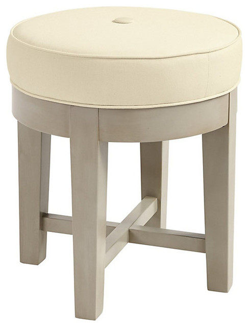 Vanity Seat Covers : Trudy vanity stool contemporary slipcovers and chair