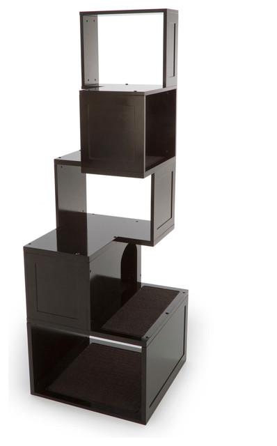 The sebastian modern cat tree modern cat furniture for Designer cat beds uk