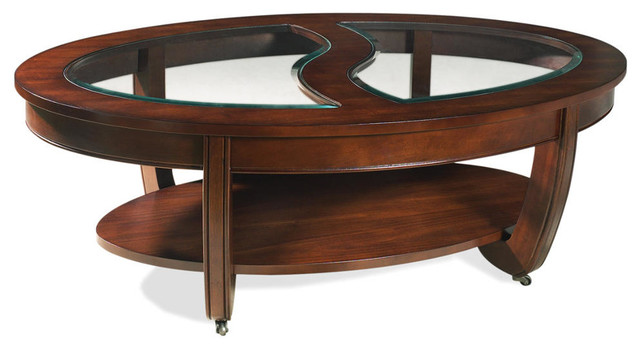 London Cocktail Table With Casters - Modern - Coffee Tables