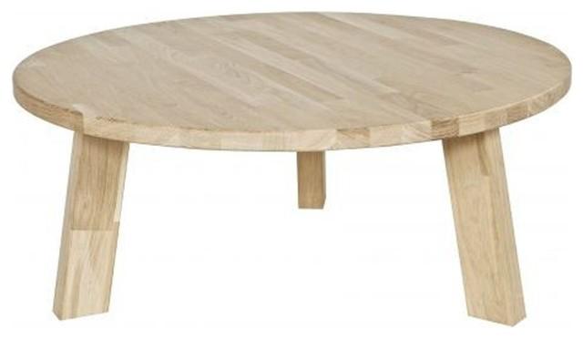Table basse ronde en ch ne fsc 80cm theofilus scandinave for Table basse scandinave ronde copenhague 80