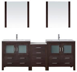 dior 82 double bathroom vanity cabinet set in espresso. Black Bedroom Furniture Sets. Home Design Ideas