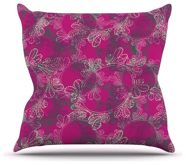 Pink Purple Decorative Pillows : Patternmuse
