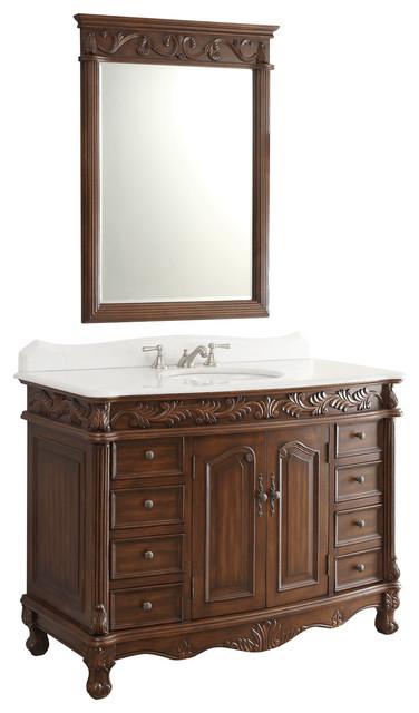 48 Florence Bathroom Sink Vanity With Mirror Victorian Bathroom Van