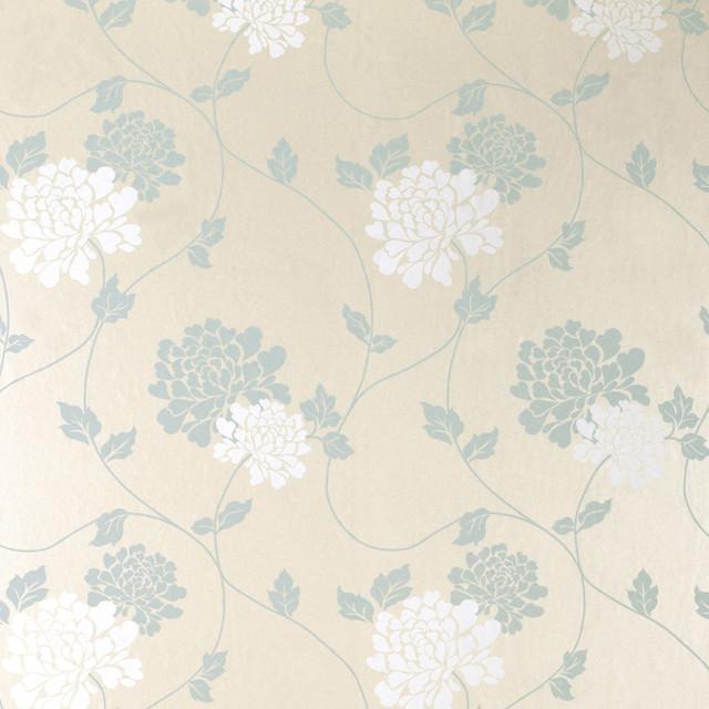 Laura Ashley Kitchen Wallpaper: Laura Ashley Isodore Duck Egg Pearl Wallpaper