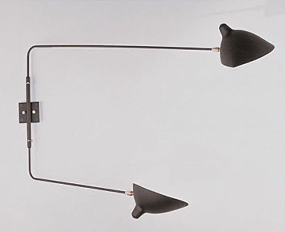 Rotating 2 Arm Wall Lamp Sconce By Serge Mouille