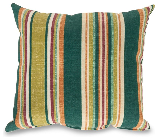 Baldwin Stripe Outdoor Pillow - Contemporary - Outdoor Cushions And Pillows - by dfohome