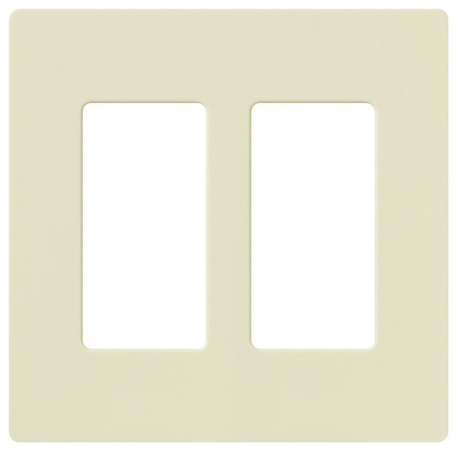 claro two gang wallplates for lutron dimmers almond. Black Bedroom Furniture Sets. Home Design Ideas