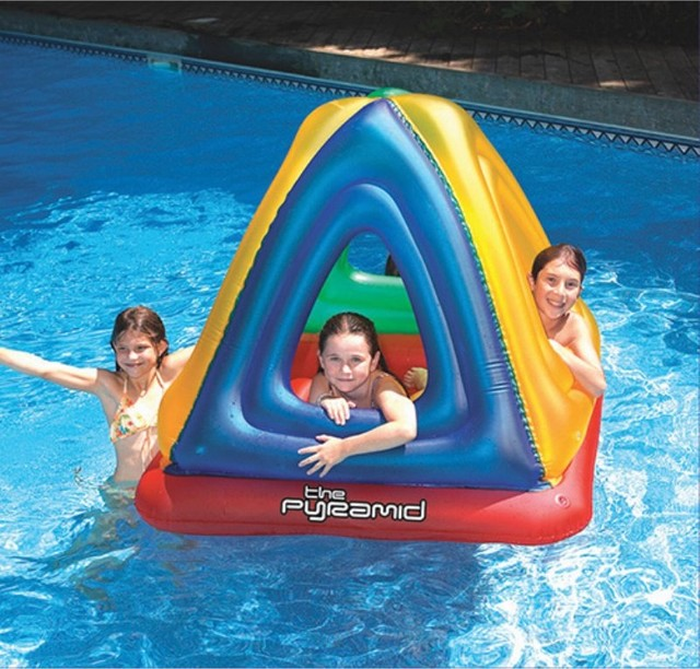 Swimline pyramid floating habitat 9092 contemporary for Pool floats design raises questions