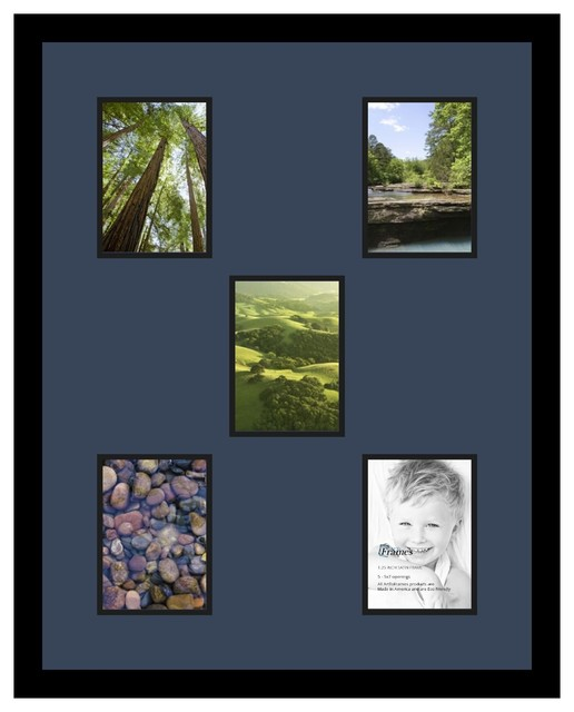 Arttoframes collage photo frame with 5 5x7 openings for Modern collage frame