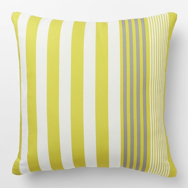 Outdoor Bold Stripe Pillow Contemporary Outdoor