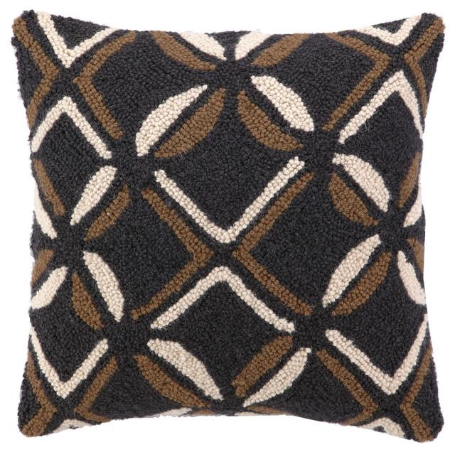 Tribal Clover Hook Pillow - Modern - Decorative Pillows