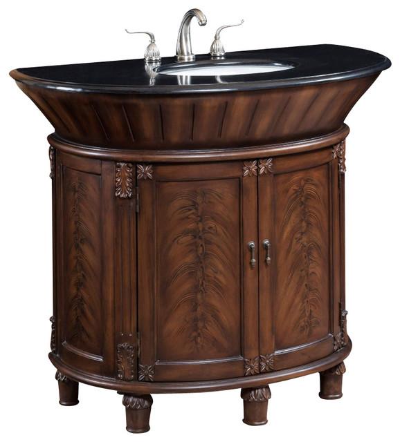 42 Inch Single Bath Vanity With Black Granite Top ...