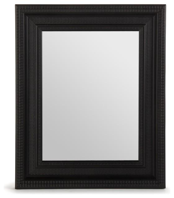 gilles miroir 42x52cm avec encadrement noir motifs contemporain miroir mural par alin a. Black Bedroom Furniture Sets. Home Design Ideas