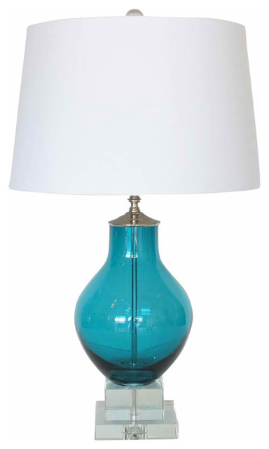 Turquoise Blue Glass Lamp Mediterranean Table Lamps
