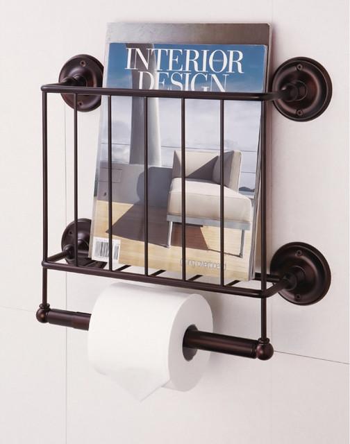 Estate Oil Rubbed Bronze Finish Magazine Rack Toilet Paper Holder Contemporary Toilet