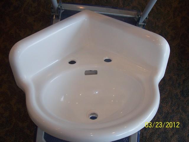 Vintage Corner Sink : Antique Corner Sink Refinished - Traditional - new york - by Porcelain ...