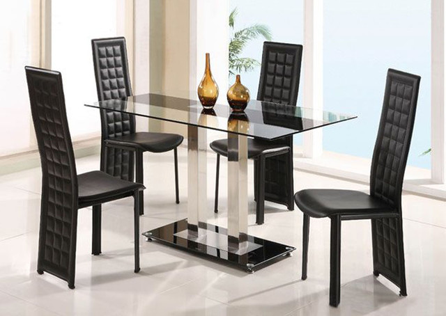 glass top leather breakfast table sets and chairs modern dining tables