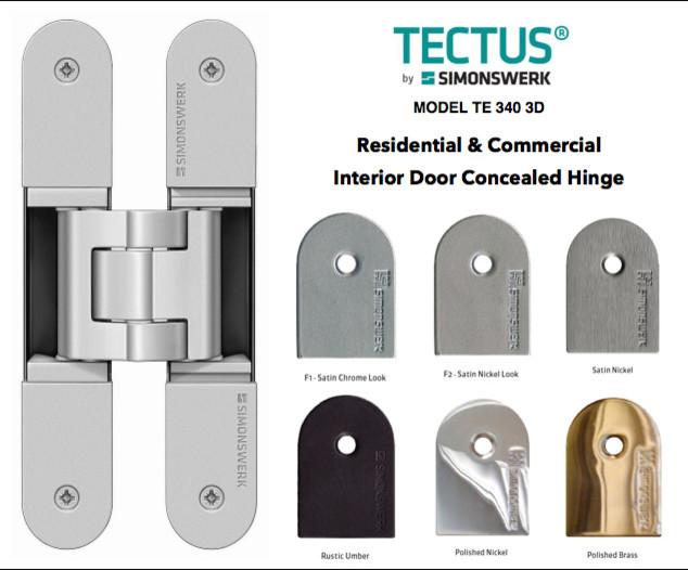 Tectus Concealed Hinges By Simonswerk Modern Home