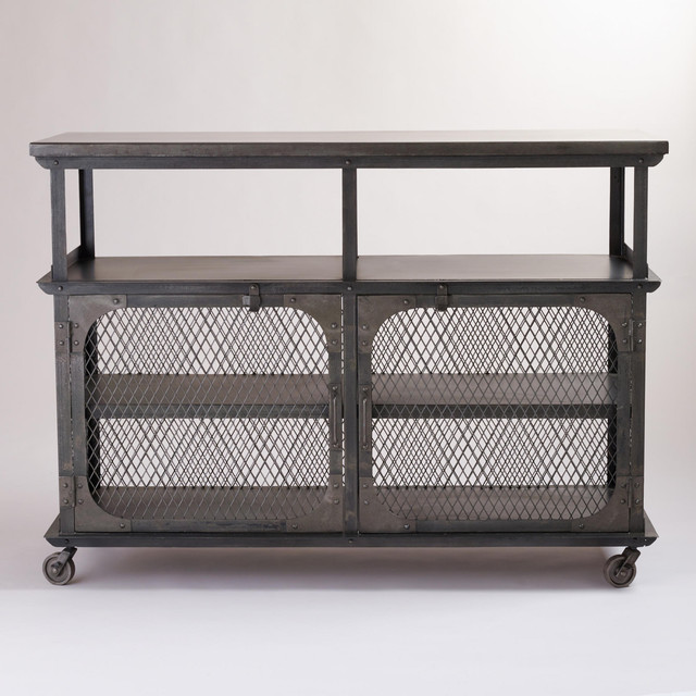Metal Bexley Bar Contemporary Bar Carts By Cost Plus