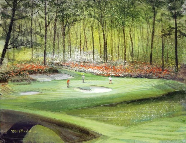 12th hole at augusta wall mural traditional wall for Augusta national wall mural