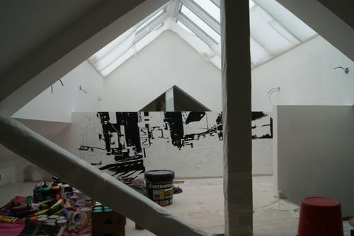 R alisation d 39 une peinture murale d corative dans un loft - Peinture decorative murale ...