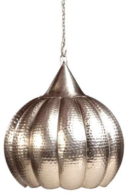 Dovetail Hanging Lamp Silver