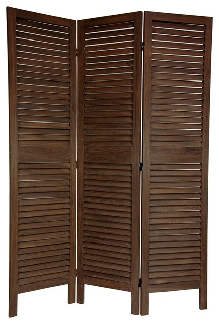 6 Ft Tall Solid Frame Fabric Room Divider 4 Panels: 6 Ft. Tall Classic Venetian Room Divider (3 P