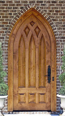 Country French Exterior Wood Entry Door Dbyd 2034