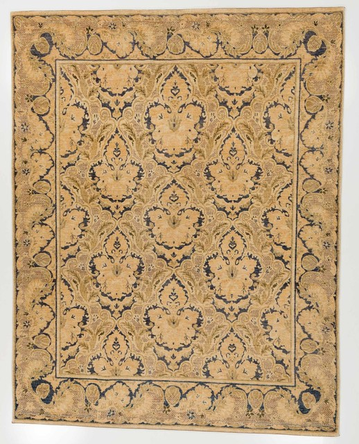 9x9 Bedroom: Chobi Ziegler Oriental Area Rug With Border Blue And Tan 7