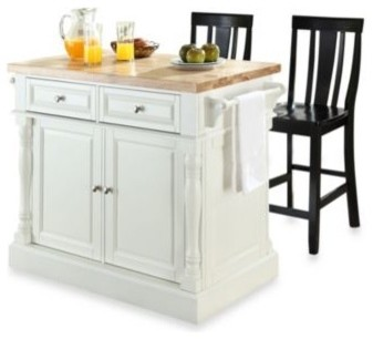 crosley butcher block top kitchen island with 24 inch buy cherry kitchen carts from bed bath amp beyond