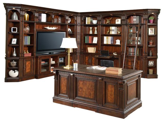 Corsica 12 Piece Library Bookcase Entertainment Center