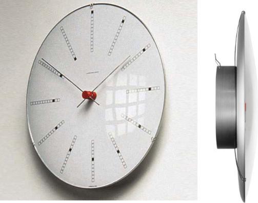 bankers clock by arne jacobsen by rosendahl modern. Black Bedroom Furniture Sets. Home Design Ideas