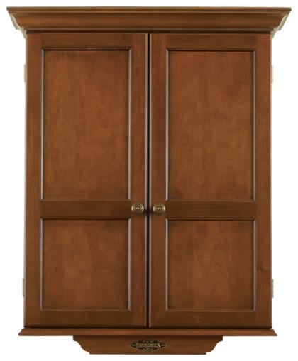 Brunswick Dartboard Cabinet - Chestnut Finish - Contemporary - Darts And Dartboards - houston ...