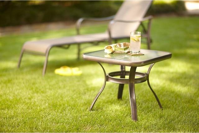 Martha Stewart Living Tables Grand Bank Patio Side Table D4067 TS Contempor
