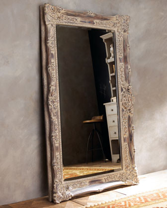 Antique french floor mirror traditional floor for Antique standing mirror