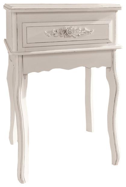 antique white end tables 1